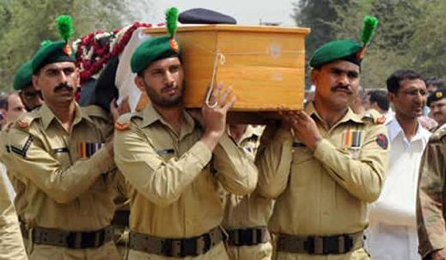 پاک فوج کے شہید نائیک خرم علی کی نماز جنازہ ادا کردی گئی