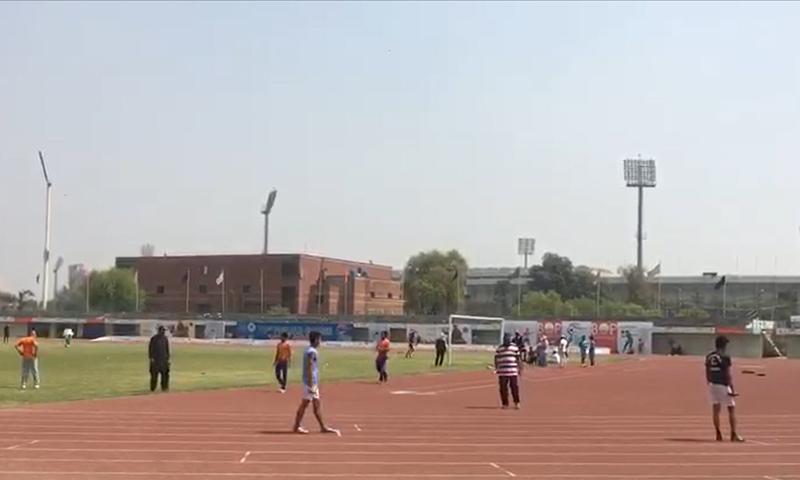 پنجاب گیمز2019:ایتھلیٹس ننگے پاؤں ریس لگانے پر مجبور