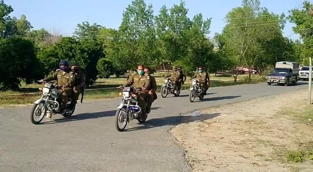 لیہ : پاک فوج اور پنجاب پولیس کا فلیگ مارچ