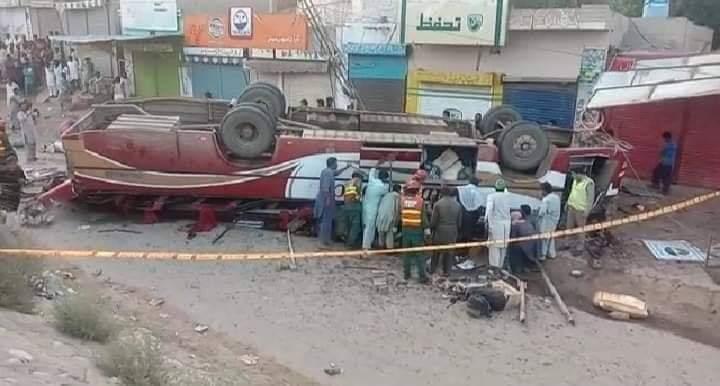 نارووال۔شکرگڑھ سے ملتان جانے والی بس کو حادثہ