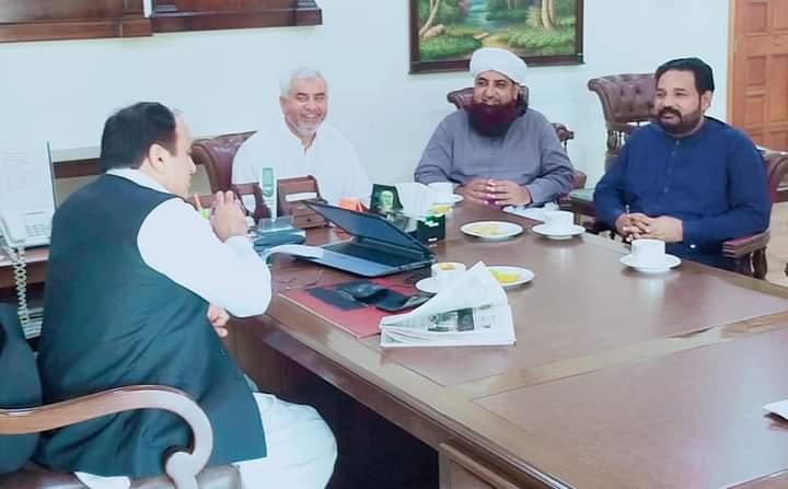 نارووال۔ڈپٹی کمشنر مہر شاہد زمان لک سے مذہبی اور سیاسی شخصیات کی ملاقات