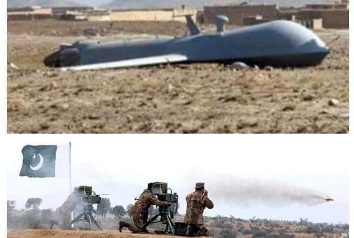 پاکستان ایف سی بلوچستان نے امریکی ڈرون مار گرایا