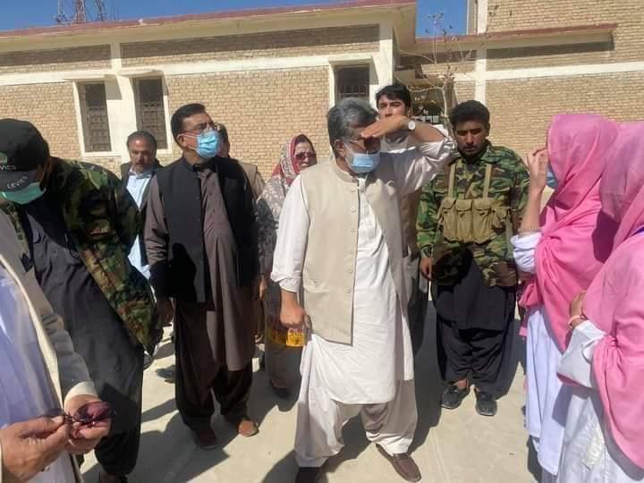 ایجوکیشن منسٹر بلوچستان سردار یار محمد رند نے گورنمنٹ گرلز ڈگری کالج چمن کا دورہ کیا