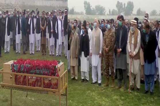 چیف جسٹس پشاور ہائیکورٹ جسٹس وقار احمد سیٹھ کی نماز جنازہ ادا