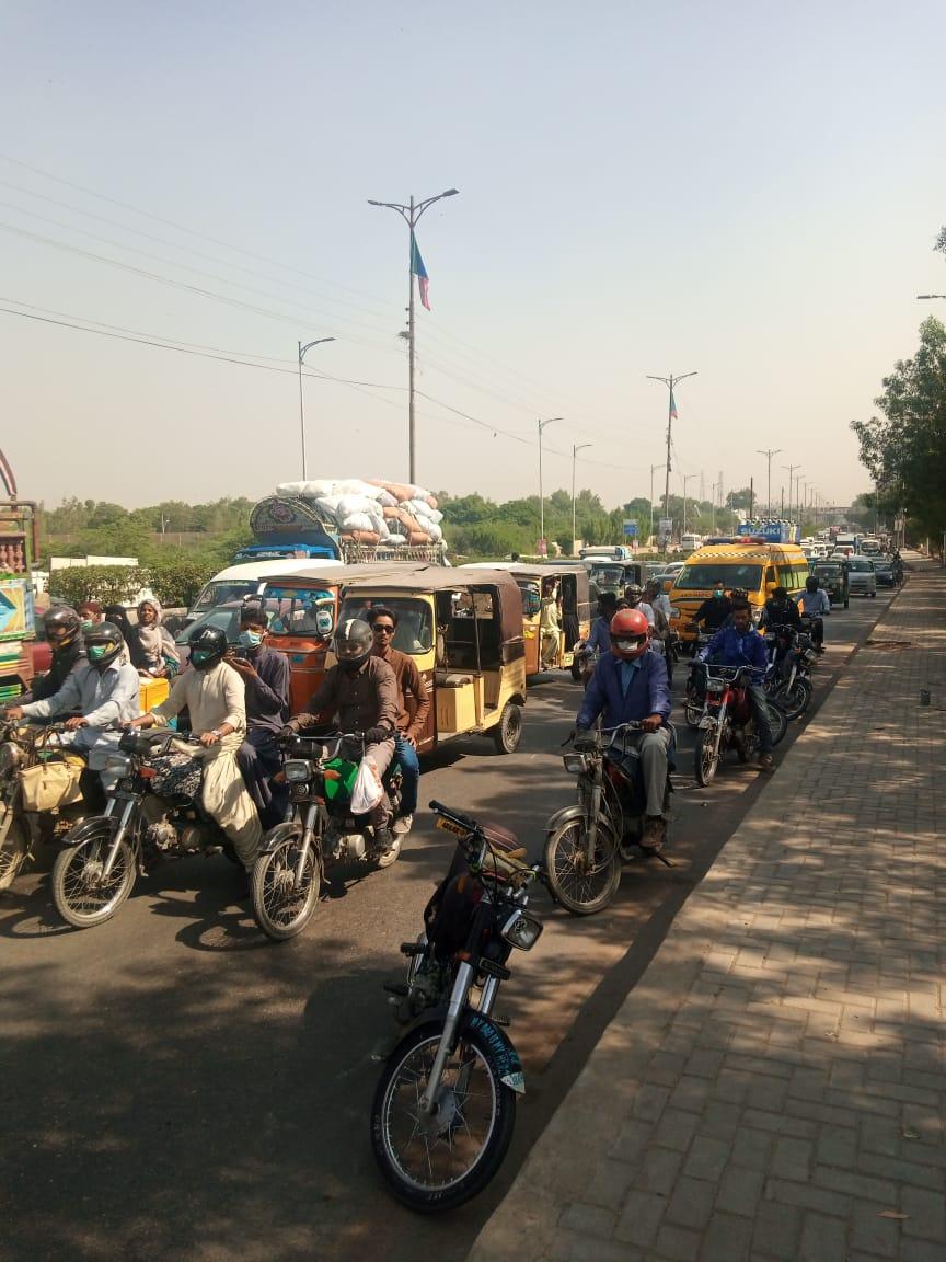 کراچی : ٹریفک حادثہ