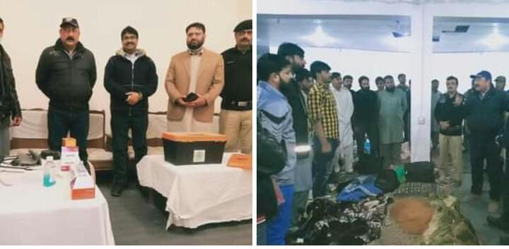پنجاب اور بلوچستان سے گلگت بلتستان الیکشن 2020 ء کی سیکیورٹی کے لیے آئے ہوئے پولیس آفیسران و جوانوں میں سے 1099 بلتستان ڈویژن میں تعینات