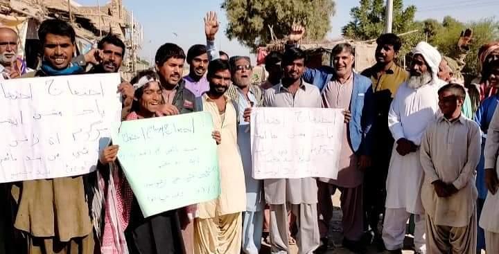 کاچھو کے سیلاب متاثرین متاثرین کا پریس کلب کے سامنے احتجاجی مظاہرہ