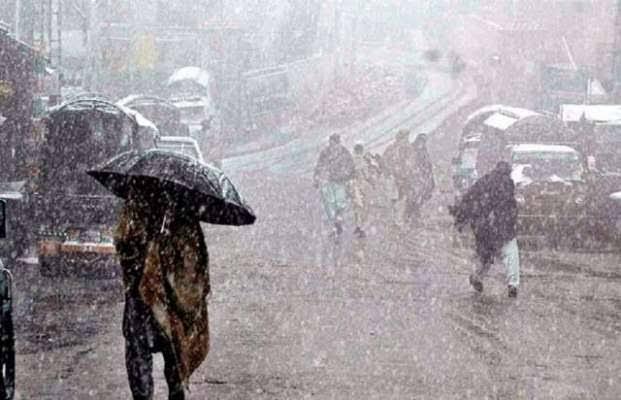 آئندہ 24 گھنٹوں کے دوران ملک کے بالائی علاقوں میں بارش، پہاڑوں پر برف باری کا امکان