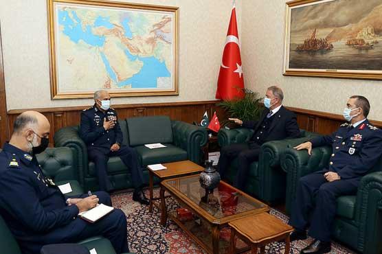 سربراہ پاک فضائیہ کی ترکی میں اعلیٰ فوجی قیادت سے ملاقاتیں، دفاعی تعلق کے فروغ پر گفتگو