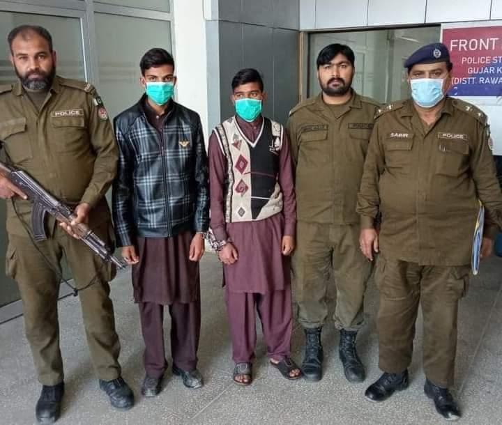 قتل کی دو واقعات میں دو نوجوانوں کو قتل کرنے والے 3 ملزمان پولیس تھانہ گوجر خان نے گرفتار کر لئے