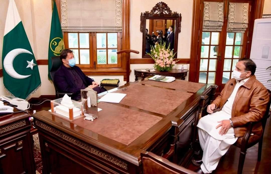 وزیراعظم عمران خان سے وزیر اعلی پنجاب سردار عثمان بزدار کی ملاقات