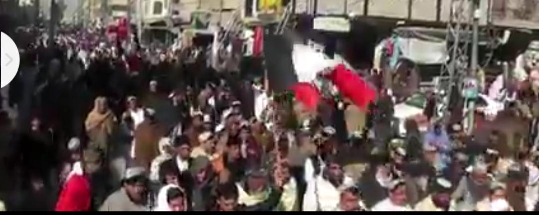 بلوچستان  کے سرحدی شہر چمن قلعہ  عبداللہ میں امن امان کی خراب  صورتحال