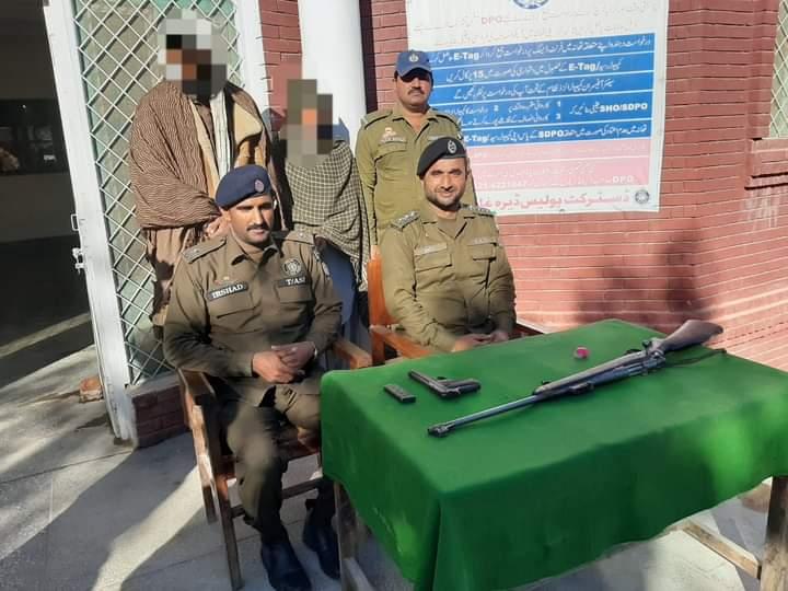 ڈی پی او عمر سعید ملک کی ہدایت پر ناجائز اسلحہ رکھنے والوں کے خلاف کاروائیاں جاری