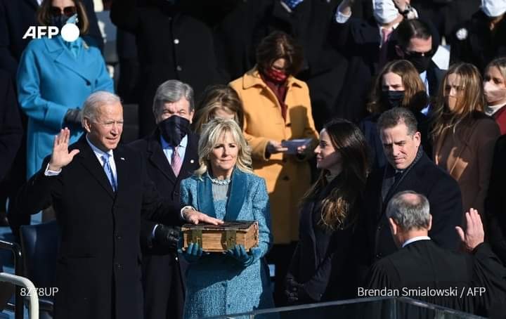جو بائیڈن حلف اٹھا کر 46 ویں امریکی صدر بن گئے
