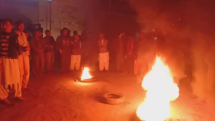 اوستہ محمد  : احتجاجی مظاہرہ