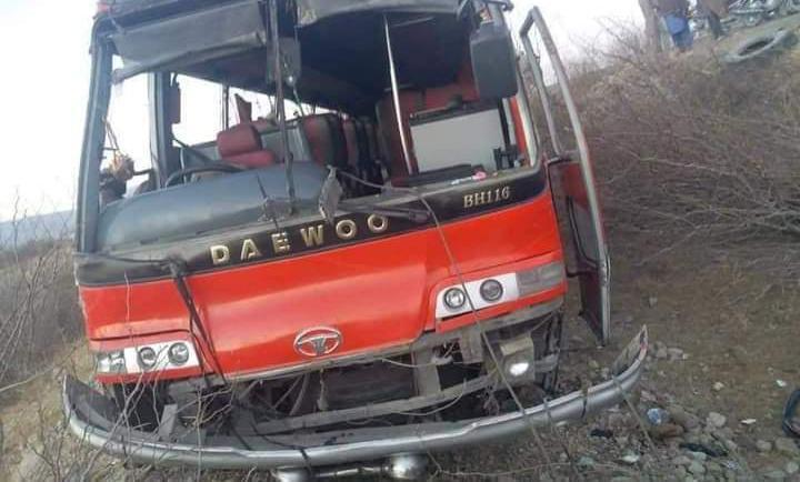 کوٸٹہ سے پنجاب جانے والی بس کو حادثہ