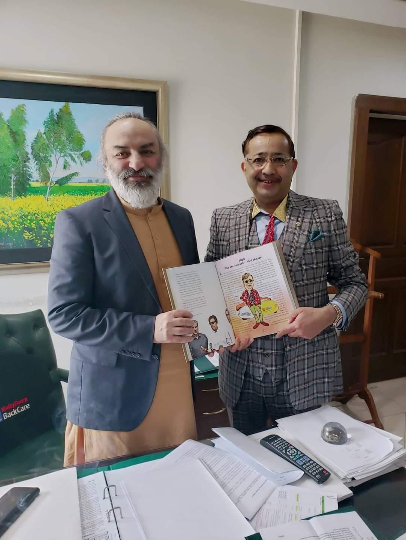کلرسیداں : امیر خرم راٹھور ایڈیشنل فارن سیکرٹری سے , وزارت خارجہ آفس میں ملاقات