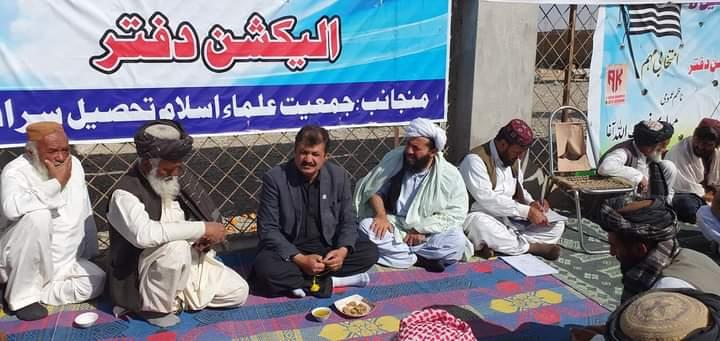 حاجی عبدالشکور خان اچگزئی نے ضمنی انتخابات کے لیے تحصیل انتخابی دفتر کادورہ