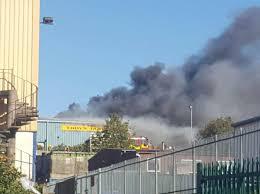 مانگا منڈی سندر انڈسٹریل اسٹیٹ میں کیمیکل والی فیکٹری میں آگ