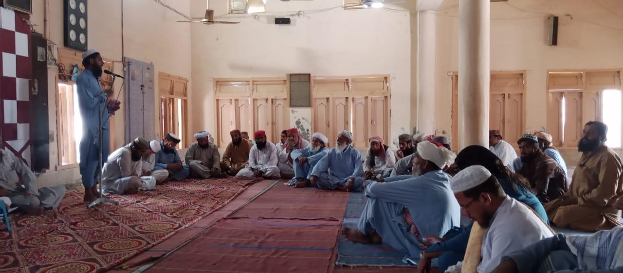 جمعیت علماء اسلام تحصیل کندھکوٹ کا اجلاس