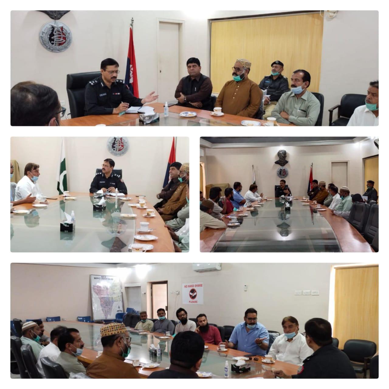 ڈپٹی انسپکٹر جنرل آف پولیس میرپورخاص رینج ذوالفقار علی مہر صاحب کی جانب سے انجمن تاجران ضلع میرپورخاص کے وفد سے ملاقات
