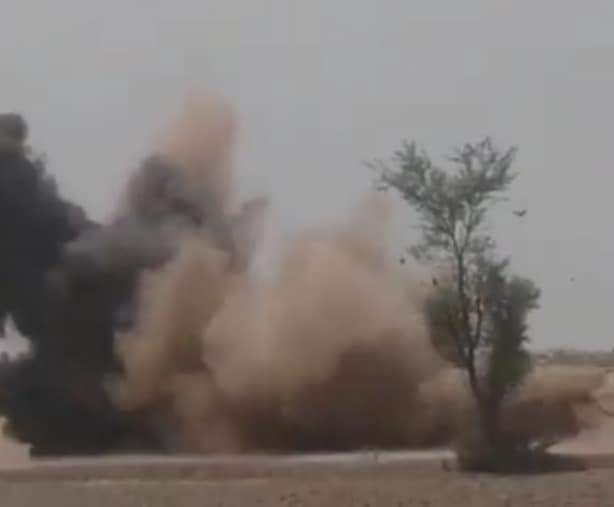 چولستانی علاقے میں ریت کے ٹیلوں سے بڑے سائز کا مارٹر بم برآمد