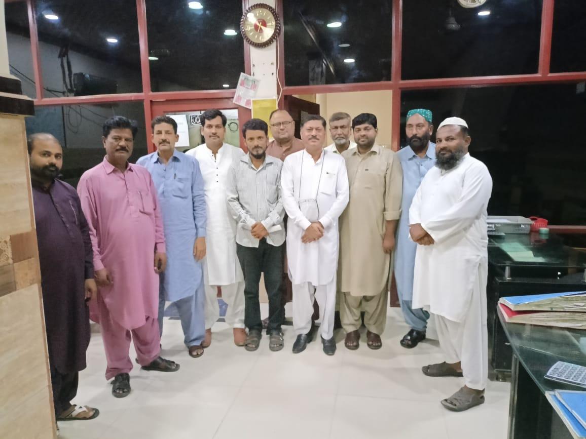 نواب شاہ میں ڈسٹرکٹ شہید بینظیر آباد پاکستان زندہ باد بیسک آرگنائزیشن کی ڈویژنل  آفیس میں اہم میٹنگ ہوئی