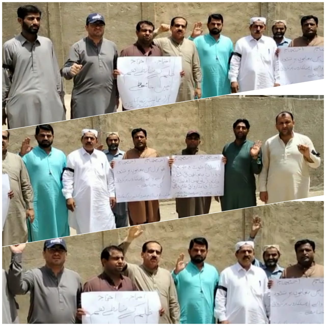 کندھ کوٹ : صحافی سراپا احتجاج