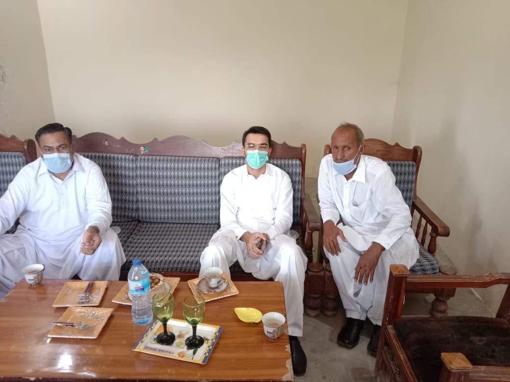 جام ارشاد احمد ارائیں کے کزن پرفیسر جام عبید اللہ صاحب کے انتقال پر فاتحہ خوانی
