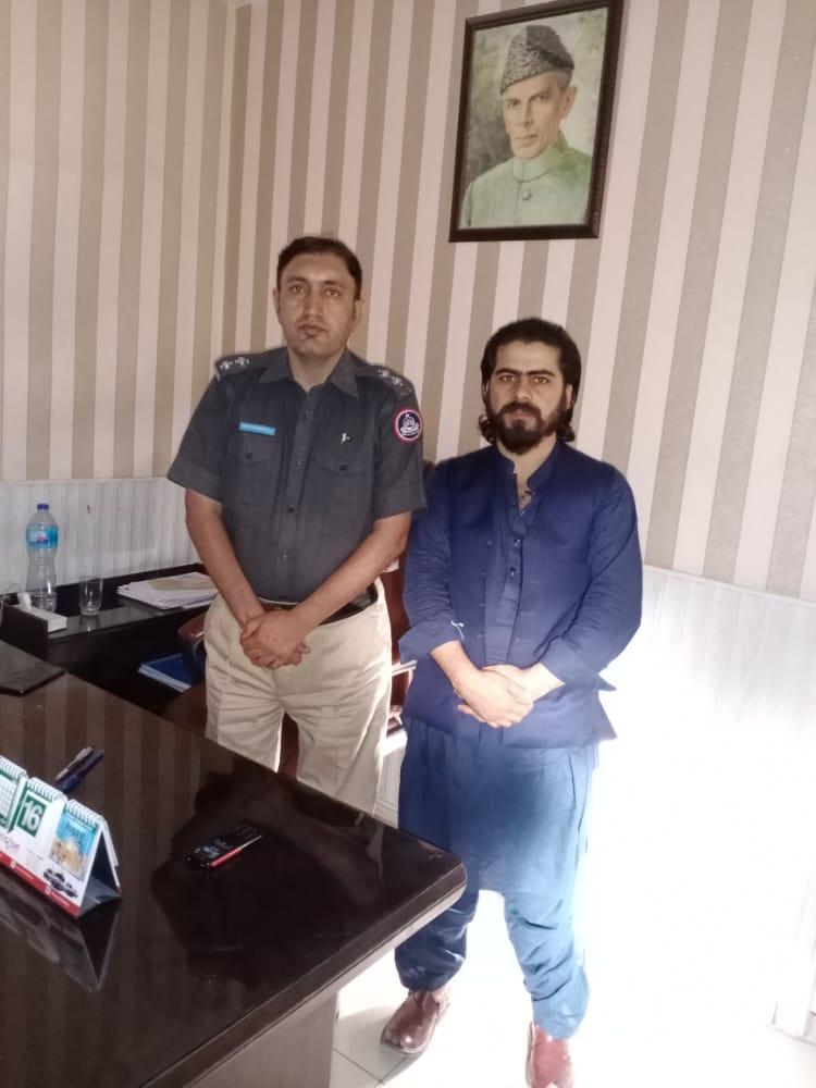 کوئٹہ سریاب تھانہ کے ایس ایچ او خیر محمد صاحب سے ملاقات