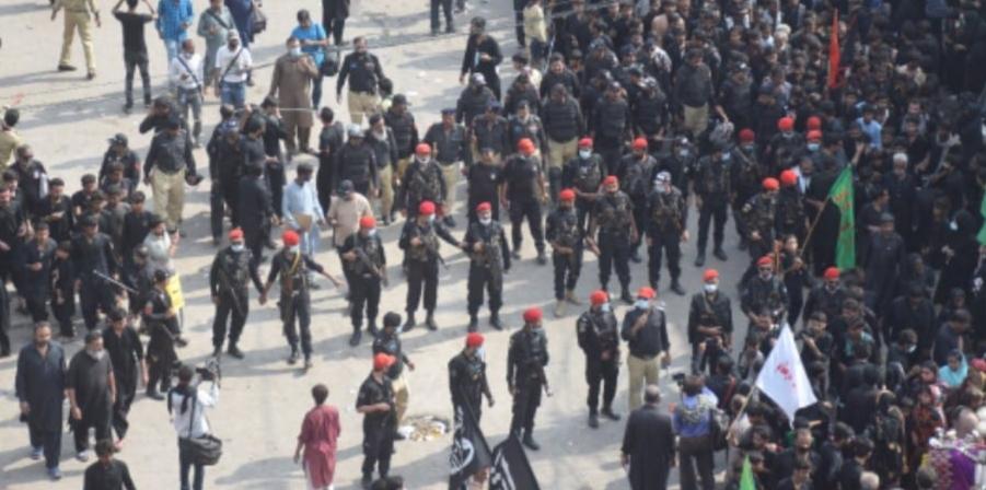 ملک بھر کی طرح ضلع حیدرآباد میں چہلم حضرت امام حسین  رضی اللہ تعالیٰ عنہ مکمل مذہبی عقیدت و احترام سے منایا گیا