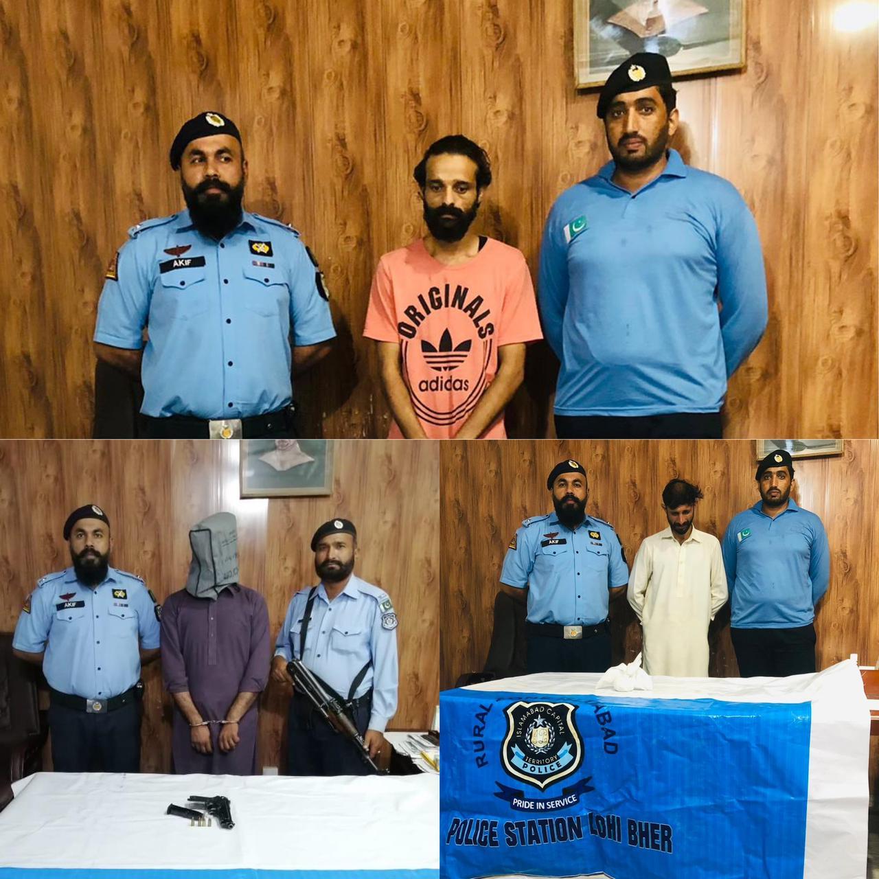 اسلام آباد :    ایس پی رورل محمد عثمان ٹیپو کی ہدایت پر تھانہ لوہی بھیر کی کاروائیاں